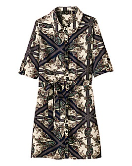 AX Paris Paisley Print Shirt Dress