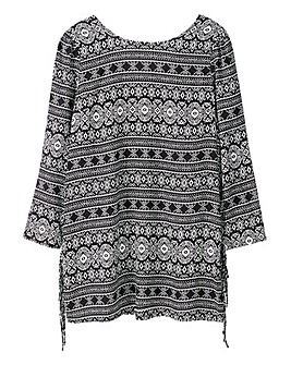 Alice and You Print Fringe Tunic