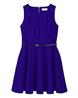 Closet Cap Sleeve Belted Dress