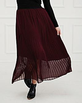 Elvi Pleated Maxi Skirt