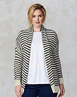 Junarose Stripe Loose Knit Cardigan