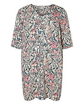 Junarose Floral Print Straight Dress