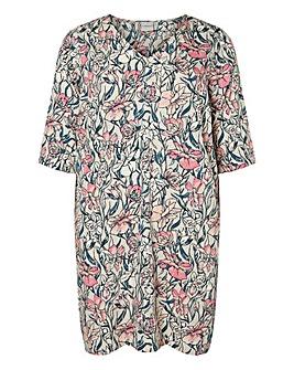 Junarose Floral Print Straight Dress