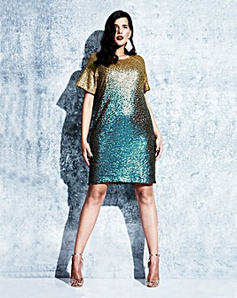 Elvi Ombre Sequin Dress