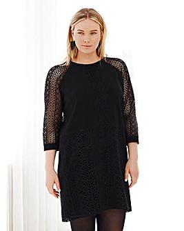 Elvi Black Lace Shift Dress