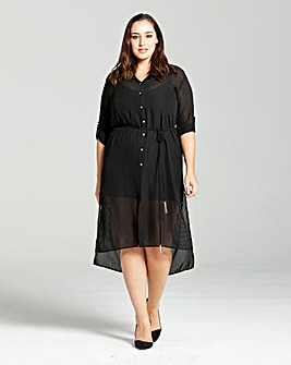 Elvi Black Shirt Dress