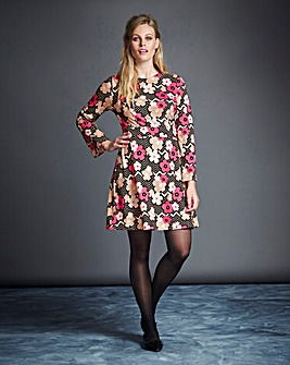 Simply Be Flower Print Tunic Dress