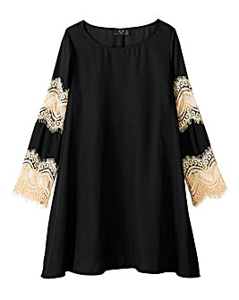 AX Paris Lace Sleeve Swing Tunic