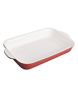 Denby Large Rectangular Dish Pomegranate