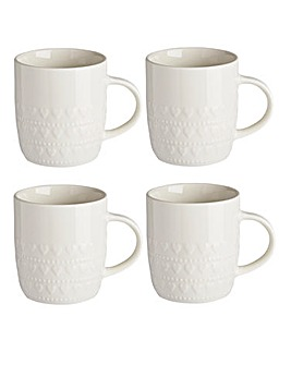 Amour 4 Piece Mug Set