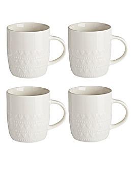 Amour 4 Piece Mug Set