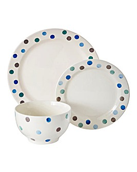 Handpainted Spots 12pc Dinner Set