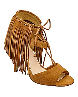 Sole Diva Fringe Sandals EEE Fit