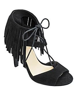 Sole Diva Fringe Sandals EEE Fit