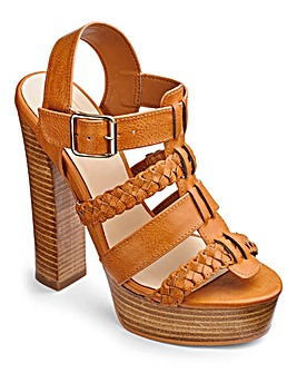 Sole Diva Plaited Sandals D Fit