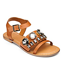 Sole Diva Jewelled Sandals EEE Fit