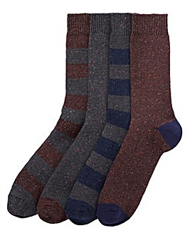 Capsule Pack of 4 Boot Socks