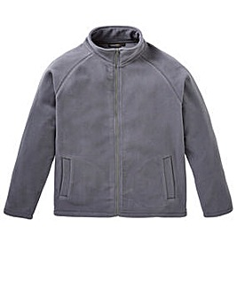 Capsule Grey Full Zip Through Fleece
