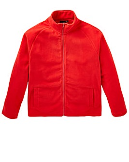 Capsule Red Full Zip Through Fleece