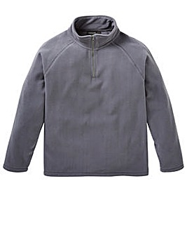 Capsule Slate Grey Zip Neck Fleece