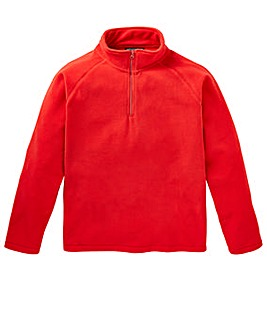 Capsule Red Zip Neck Fleece