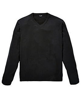 Capsule Black V-Neck Jumper