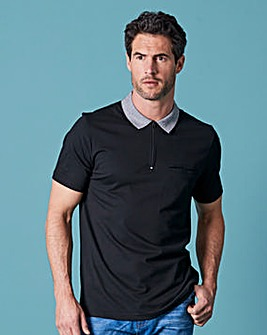 WILLIAMS & BROWN Zip Neck Polo