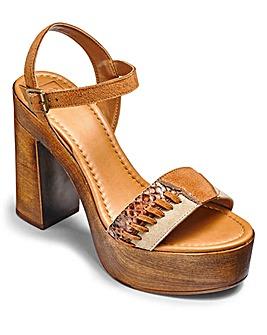 Sole Diva High Patchwork Sandals E Fit