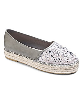 Sole Diva Espadrille Shoe Standard D Fit