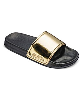 Slydes Metallic Sandals
