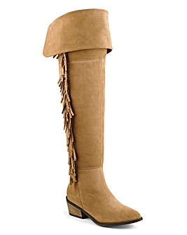 Sole Diva Fringe Boots D Fit