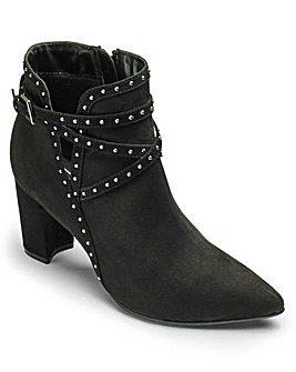 Sole Diva Studded Ankle Boot EEE Fit