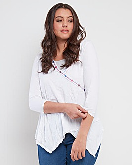 Joe Browns Crinkle Button Top