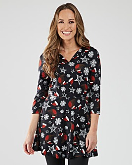 Joe Browns Robin Novelty Christmas Tunic