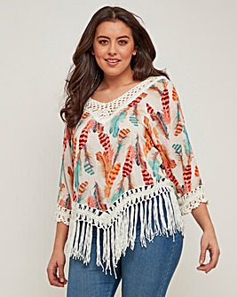 Joe Browns Feather Tassel Blouse
