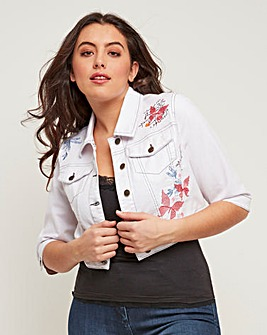Joe Browns Denim Embroidered Jacket