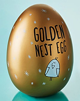 Eggcellent Golden Nest Egg Money Bank