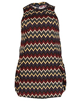 Samya Chevron Swing Dress