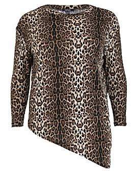 Samya Leopard Print Knit Top