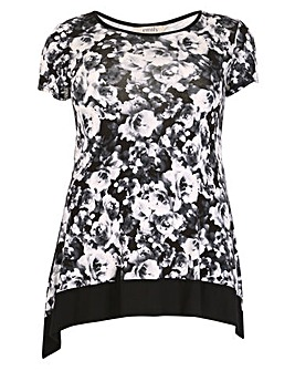 emily Floral Contrast Tunic