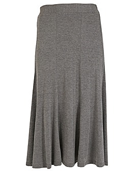 emily Jersey Panel Midi Skirt