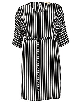 emily V-Neck Tie Waist Dress