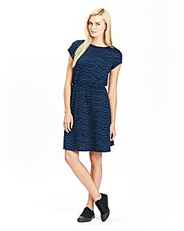 Jersey Jacquard Skater Dress