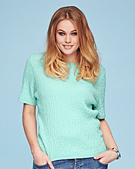 Crop Textured Jumper