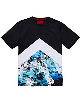 DFND Marble Chevron T-Shirt Long