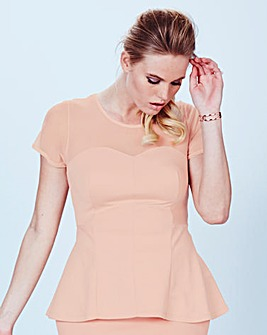 Simply Be Jersey Peplum