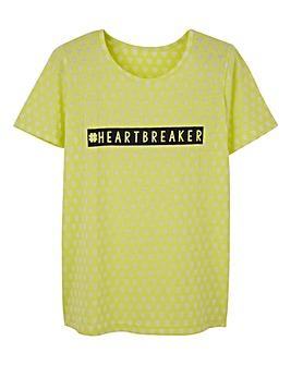 Star Burn Out Jersey T-Shirt