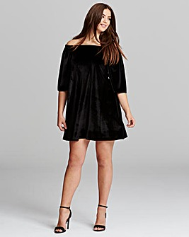 AX Paris Velour Bardot Dress