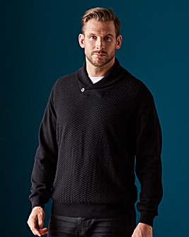 Black Label Shawl Neck Jumper Long