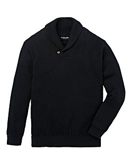 Black Label Shawl Neck Jumper Regular